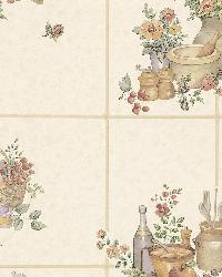 Pajer Cream Vintage Fruit Tile by