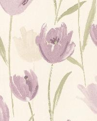 Finch Purple Hand Painted Tulips by
