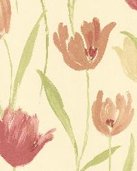 Finch Red Hand Painted Tulips by
