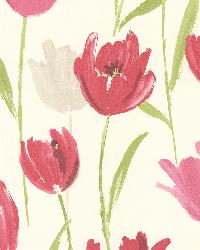 Finch Pink Hand Painted Tulips by