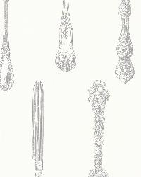 Price Silver Vintage Silverware by  Brewster Wallcovering