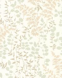 Dixon Beige Forest Leaves by  Brewster Wallcovering