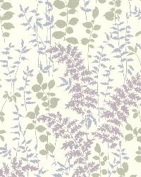 Dixon Purple Forest Leaves by  Brewster Wallcovering