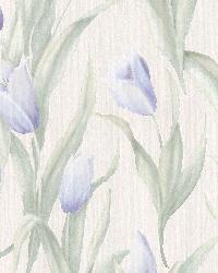 Denning Blue Satin Tulip Texture by