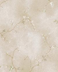 Naylor Beige Small Branch Trail by  Brewster Wallcovering