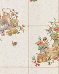 Pajer Mauve Vintage Fruit Tile by