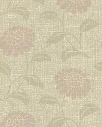 Peery Beige Modern Floral Silhouette by