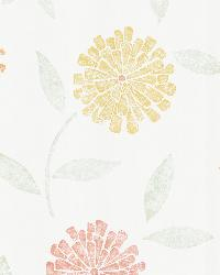 Davenport Red Modern Floral by  Brewster Wallcovering