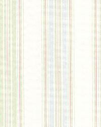 Clancy Green Shiny Multi Stripe by  Brewster Wallcovering