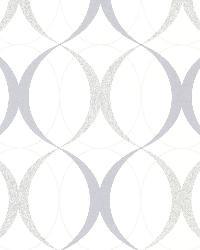 Rosten Grey Retro Orb by  Brewster Wallcovering