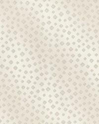 Edna Champagne Beaded Squares Wallpaper by