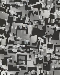 Collision Grey Geometric by
