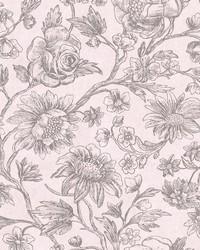Kepler Light Pink Sketched Floral by