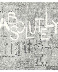 Absolutely Right Light Grey Graphic Wall Mural by