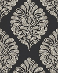 Magnitude Black Damask Mural by