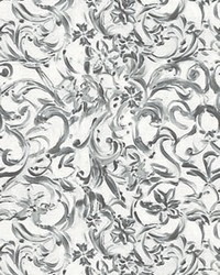Filigrain White Floral Mural by