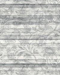 Woodlands Light Grey Floral Board Wall Mural by