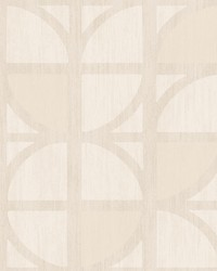 Tulip Cream Geometric Trellis Wallpaper by