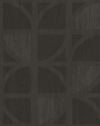 Tulip Chocolate Geometric Trellis Wallpaper by
