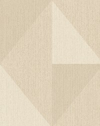 Diamond Khaki Tri-Tone Geometric Wallpaper by