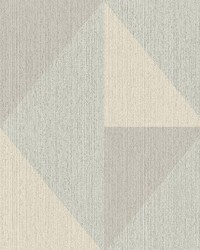 Diamond Light Blue Tri-Tone Geometric Wallpaper by