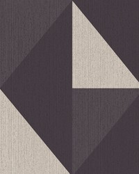 Diamond Black Tri-Tone Geometric Wallpaper by