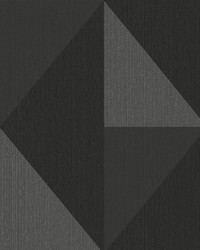 Diamond Silver Tri-Tone Geometric Wallpaper by