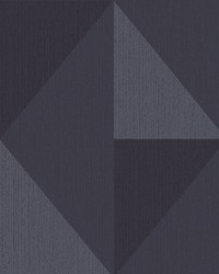 Diamond Blue Tri-Tone Geometric Wallpaper by