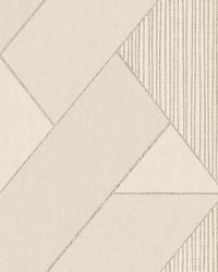 Art Deco Cream Glam Geometric Wallpaper by