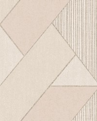 Art Deco Peach Glam Geometric Wallpaper by