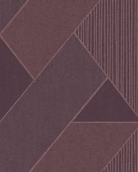 Art Deco Plum Glam Geometric Wallpaper by