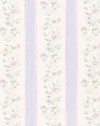 Emma Purple Floral Stripe by