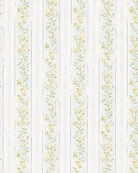 Emily blue Floral Stripe by
