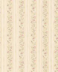 Emily Green Floral Stripe by