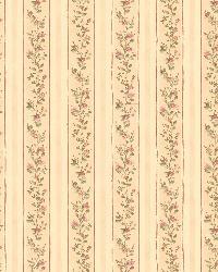 Emily Beige Floral Stripe by