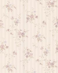 Laurie lavender Floral Stripe by