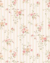 Laurie peach Floral Stripe by