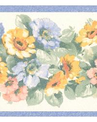 Maryanne periwinkle Floral Garden Border by