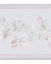 Lilah lavender Floral Border by