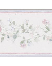 Lilah purple Floral Border by