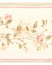 Lilah blush Floral Border by