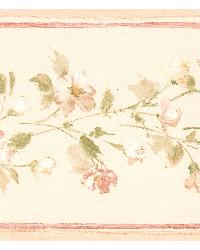 Lilah beige Floral Border by