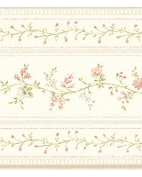 Lynn sage Floral Stripe Border by