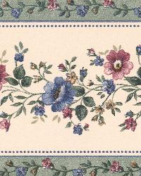 Linda Sage Floral Stripe Border by