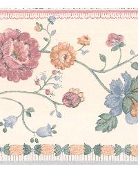 Erica Multicolor Floral Border by