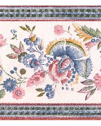 Michelle Silver Floral Trail Border by