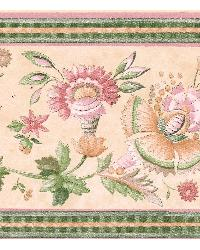 Michelle Cream Floral Trail Border by