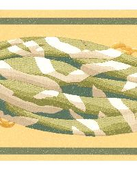 Blanche Green Decorative Border by  Brewster Wallcovering