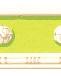 Vivian Light Green Decorative Border by