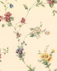 Yelena White Midscale Floral by  Brewster Wallcovering